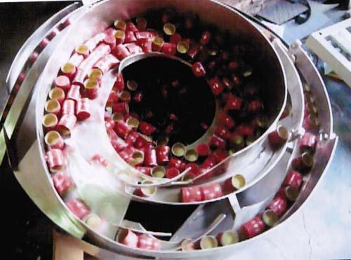 bowl feeder for bottle cap